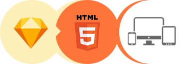 sketch to html5 logo